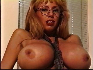 Blonde With Big Tits Strips Down And Plays With Her Boobs On Sofa