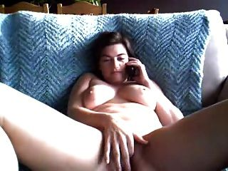 Chubby Double Orgasm Through Phone Sex