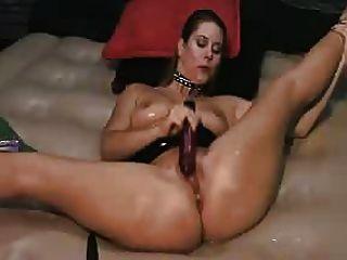 Spanking Herself To Orgasm