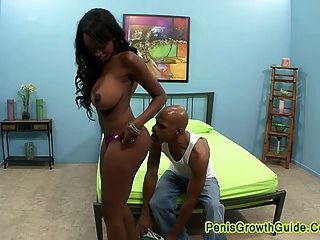 Big Tits Ebony Play Her Pussy And Got Facial
