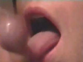 Close Up Cum Swallow