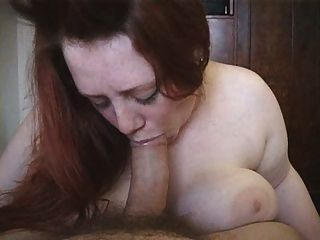 More Of The Redhead Bbw Deepthroating