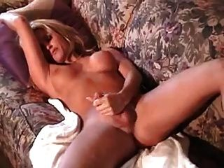 Mature Shemale Strokes And Cums