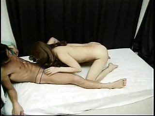 Japanese Ladyboy Gets Her Butt Slammed