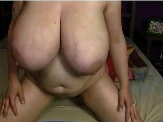 Webcams 2014 - Massive Tits Bbw Rides Dildo