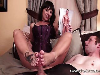 A Sissy Made Foot Milking
