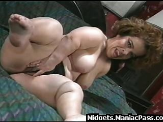 Busty Midget Fucked On A Table