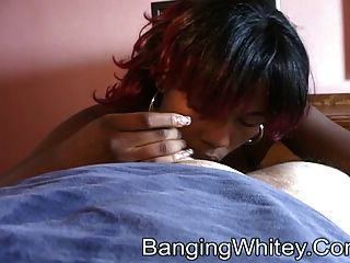 Black Whore Getting Jizzed On