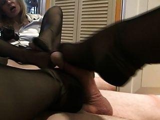 Hot Stockings Pov Footjob