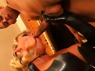 Evil Old Daddy Puts His Hot Bitch Into Latex
