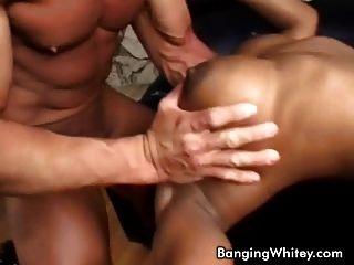 Busty Ebony Slut Get Fucked Doggy Style