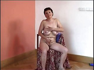 Big Tit Granny Puts On A Show For You