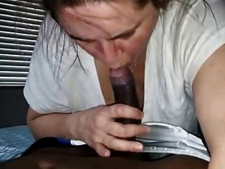 White Slut Gags On Huge Black Dick (facial Cum Shot)