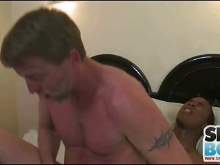 Daddy Takes Big Black Cock In His Ass