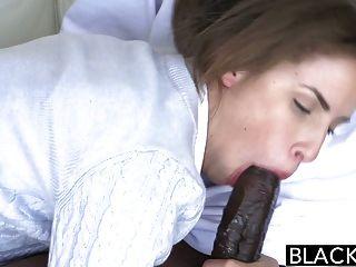 Blacked Natasha White Threesome With Two Monster Dicks