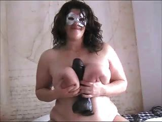 Bbw Amateur Sitting On A Black Toy