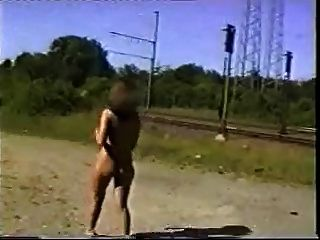 Hot Woman Nude Walk Around The Railway