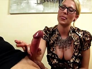 Hot Blonde Slut Gives A Teasing Handjob