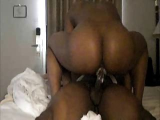 Round Black Booty Creaming On The Dick