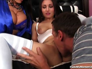 Lisa Ann And Not Her Virgin Step-daughter Share Loads Of Cum