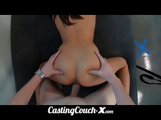 Castingcouchx Stupid Dumb Whore 18yo Tries Porn