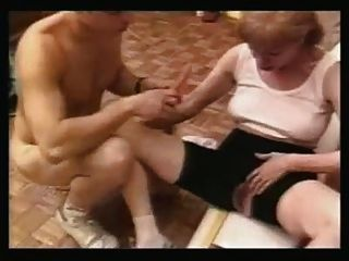 Old Mature Blond And Young Arab Girl In Action