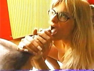 Blonde With Glasses And A Hot Body Gets A Facial