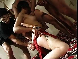 Chinese Woman Gangbanged!!