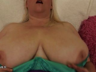 Mature Jo Juggs Masturbate Alone