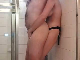 The Best Shower Strapon Ever