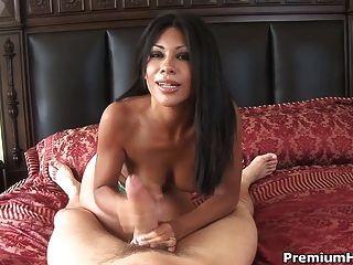 Cassandra Cruz Jerks Off A Dick