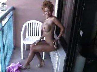 Sexy Mature Naked On Balcony!!