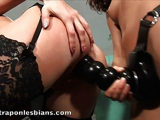 Stella Pounding Asya As Hard As She Could With A Huge Strapo
