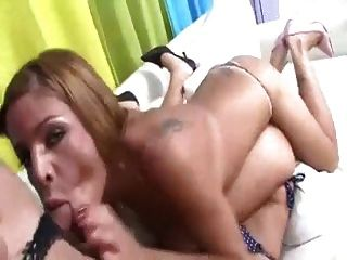 Little Blonde Tranny Double Teamed