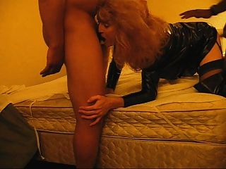 Amateur Shemale Trinity Gets Stuffed By Two Hung Black Men