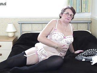 Classy Big Grandmother Still Loves To Get Herself Wet