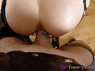 Mistress Enjoys Anal Sex While Wearing A Speculum