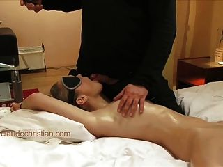 Blond Girl Blindfolded Tied Fucked By Stranger Gets Orgasm