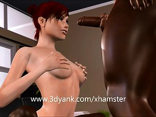 3d Cuckold Bitch Takes On Monster Bbcs