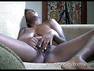 Just A Sweet Black Girl Rubbing Her Pussy