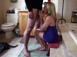 Quickie Bathroom Blowjob