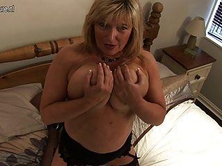 Chubby Grandma Masturbate Alone