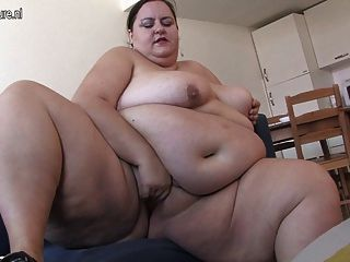 Very Fat Lady Loves Getting Horny By Herself