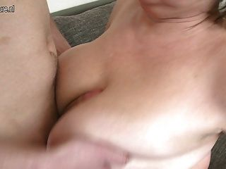 Busty Mature Mother Fucking With Her Boy