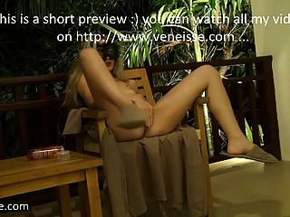 Veneisse Giant Fruit Papaya Deep In Pussy Outdoor & Fisting