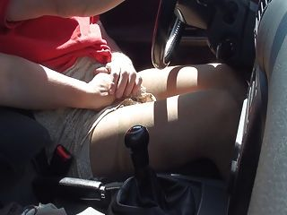 Pantyhose Car In Summer