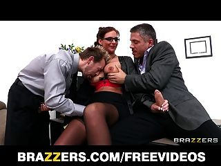 Brazzers - Busty College Dean Phoenix Marie Takes Two Cocks