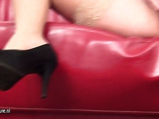 Hot Milf Dania Masturbate On The Couch
