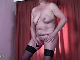 Naughty Mature Mama Playing With Her Dildo