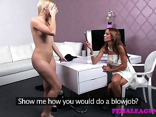 Femaleagent Stunning Blonde Is Passed Around On Casting
